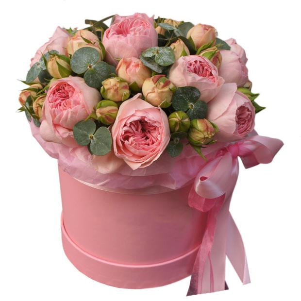 "Цветы в коробке ""Мон амур"""